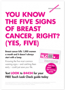 Five signs of breast cancer