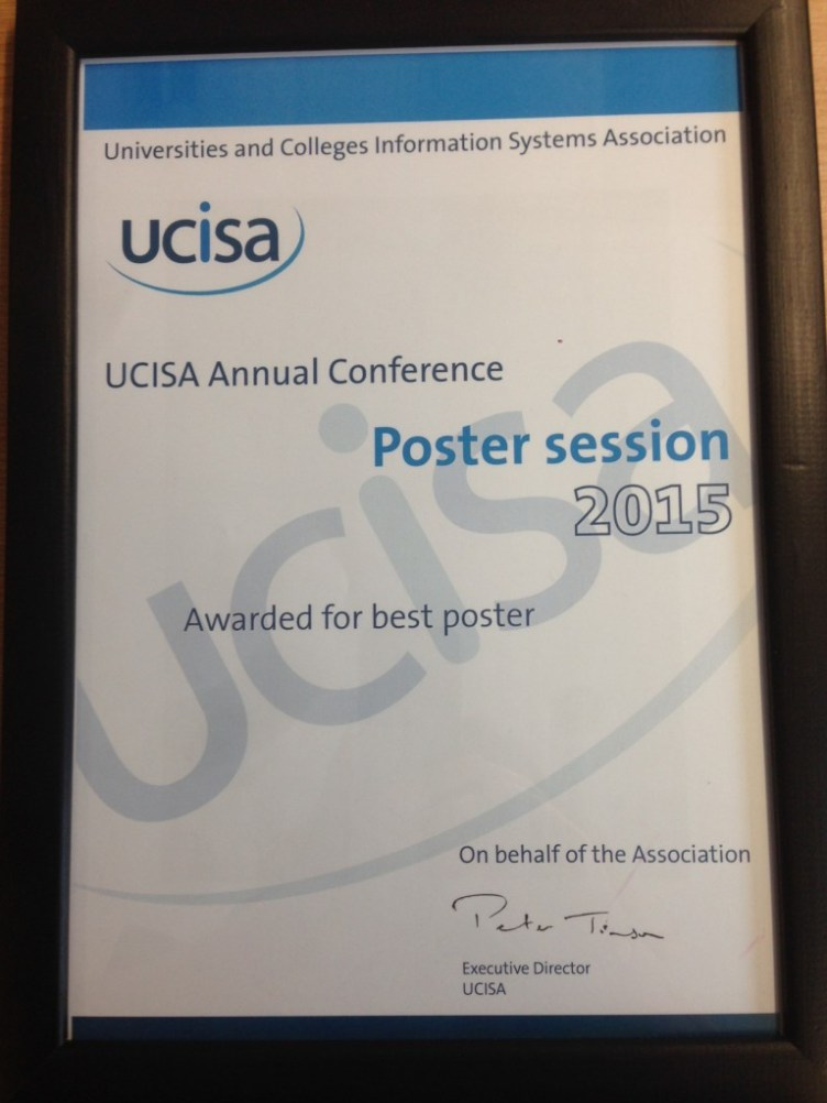 UCISA Best Poster Award