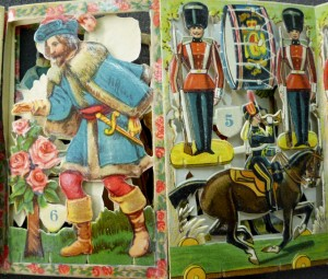 "Interior leaves from The Toy Army and Beauty and the Beast: title numbers 5 and 6 in ""Father Tuck's 'Panorama' Series""?"