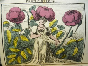 Frontispiece of Mrs. Rose (with family members?) planning her party.