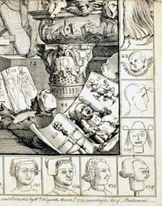 "Hogarth's homage to children's ""art"" on The Analysis of Beauty"