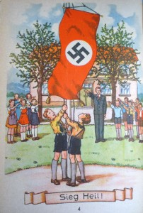 Illustration that faces the playing children in the 1941 edition