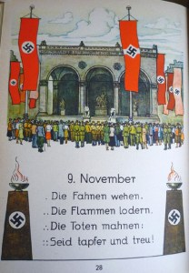 Illustration in 1941 edition that depicts an anniversary celebration of the 1923 Beer Hall Putsch