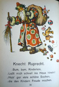 Knecht Ruprecht, in color, replaces St. Nicholas in the 1941 edition