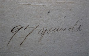 Close-up view of inscription