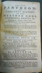 "Title page of ""The New Pantheon"" (5th ed.)"