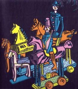 Edwin Redslob. Der Spielzeugschrank. Illustrated by Emmy Zweybruck. (Leipzig, Berlin: Verlag Otto Beyer, [1934]).