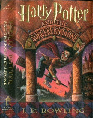 "46385: The very familiar ascription to ""J.K. Rowling"" and Mary GrandPré cover art introduced the series to millions of American children, young adults, and grown-ups."