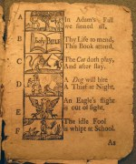 New England Primer, First page of alphabet rhymes (Cotsen 32844)