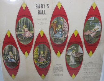 Uncut sheet for Baby's Ball