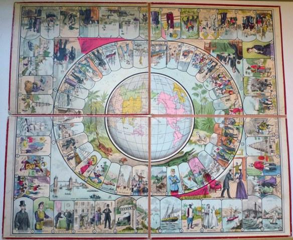 """Game Board for """"Le Voyage Autour du Monde en 80 jours : D'apres le Roman de Jules Verne : Jeu de Société"""""""