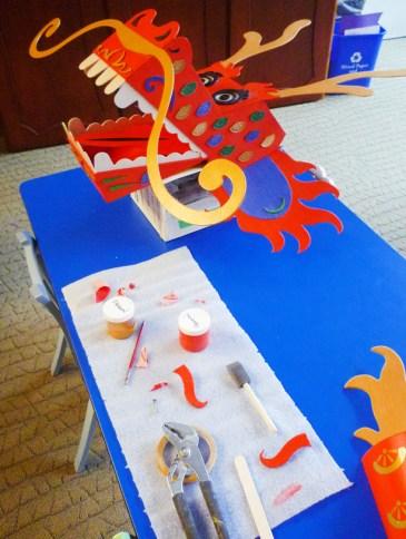 dragon head on table a