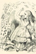 "Tenniel's 's original illustrations from ""Alice in Wonderland"""