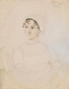 pencil portrait of Jane Austen