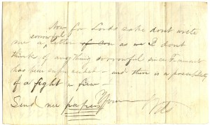 Image of the back of letter from MacMurray to his mother, November 6, 1863