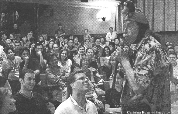 Patch Adams in McCosh 50 2002