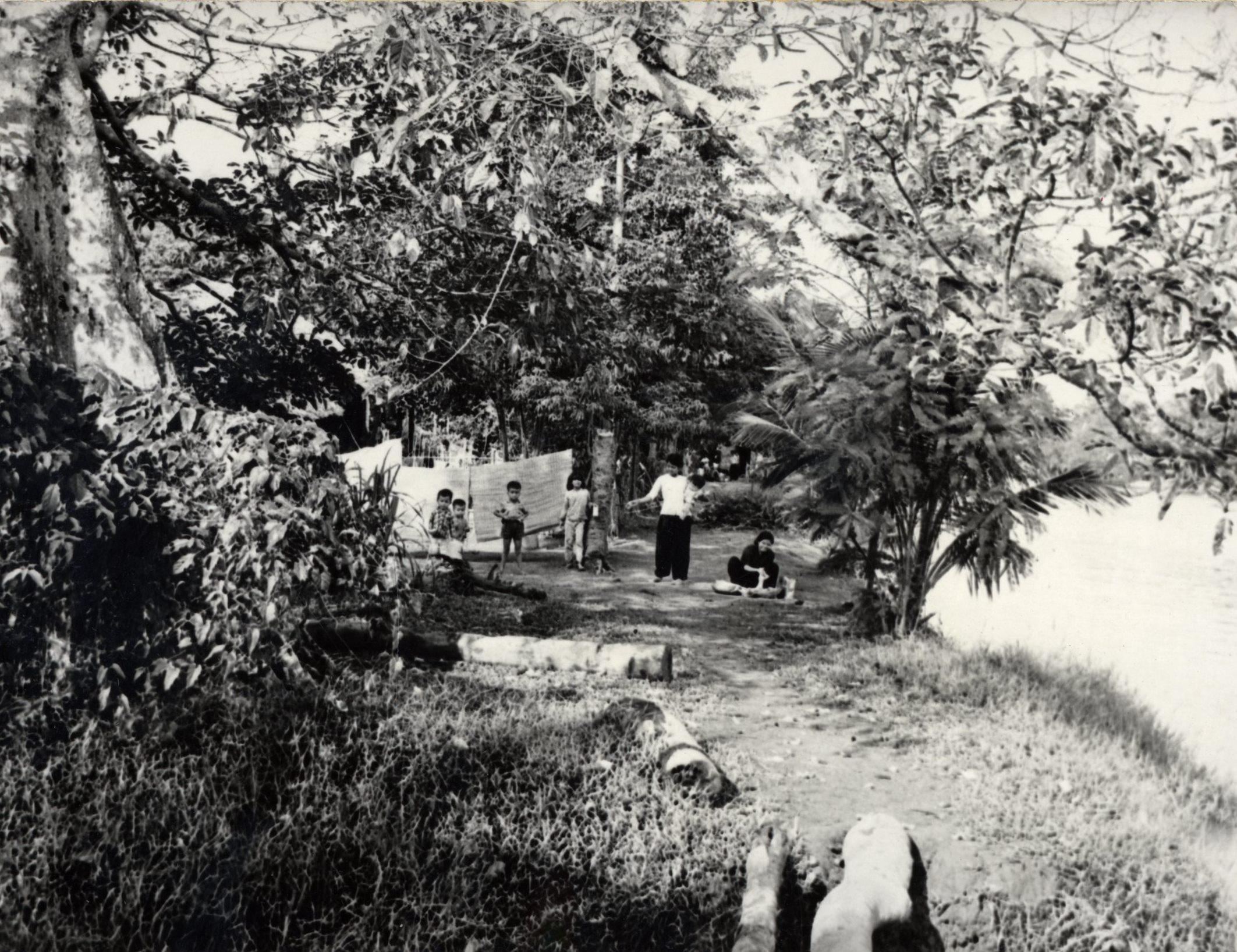 Family near Cai Rang River, Vietnam