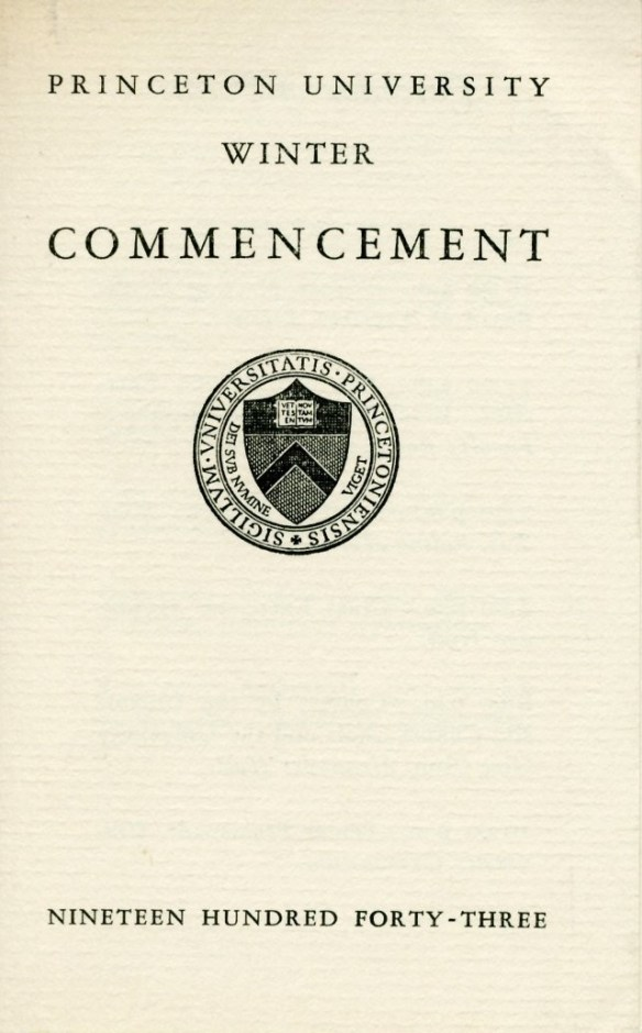 Commencement_Schedule_Jan_1943_AC115_Box_9_Folder_4