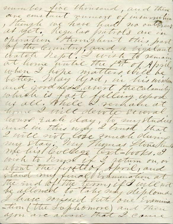 Josias Hawkins letter 2