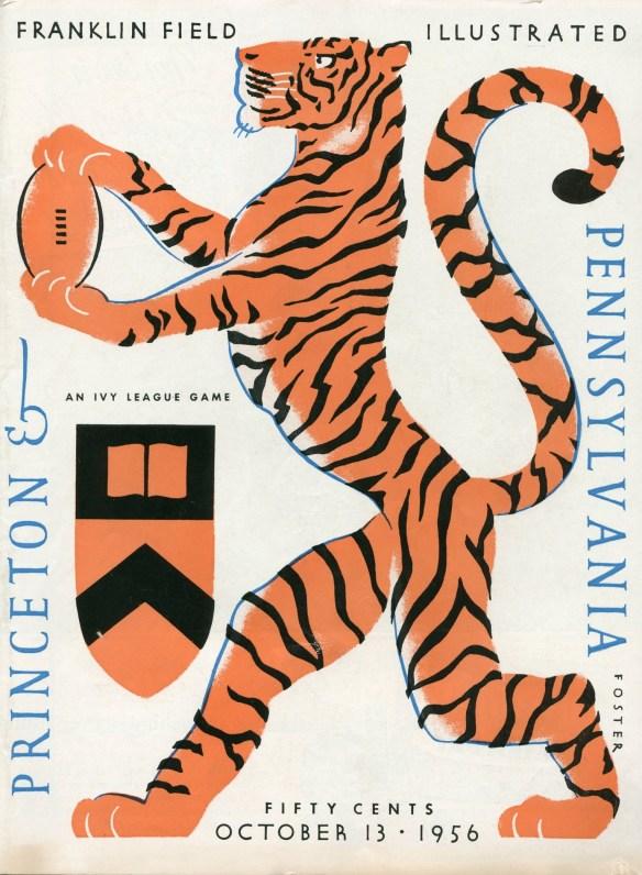 Football_program_Princeton_Penn_13_Oct_1956