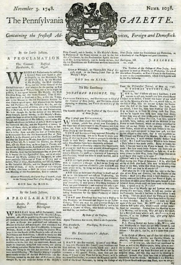 Pennsylvania_Gazette_1748