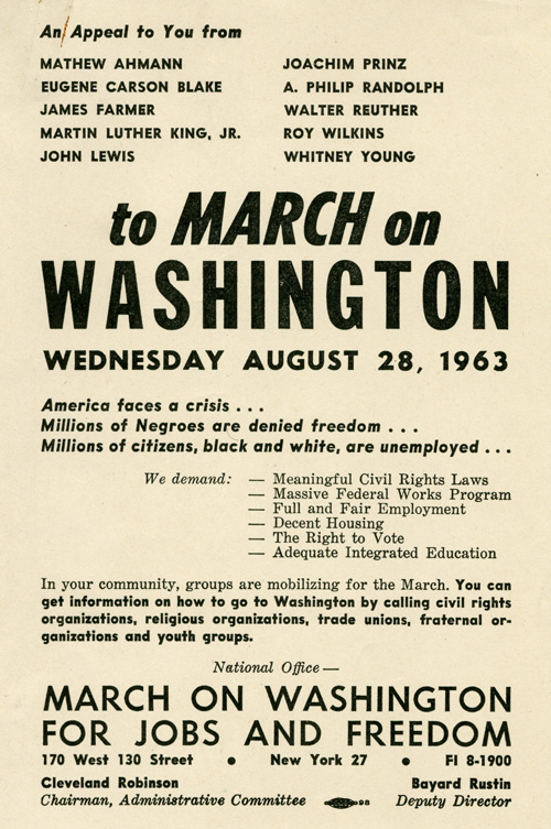 March_on_Washington_Flyer_MC001_Box_1120_Folder_11