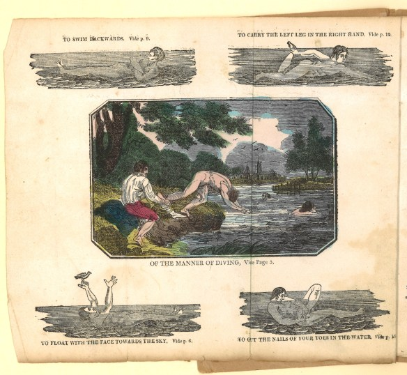 Frontispiece to The Art of Swimming(London: John Bailey, 1819). Call number: Ex 4244.361