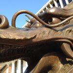Close-up of dragon sculpture