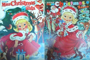 Two variant covers by Voss for Little Miss Christmas and Santa.