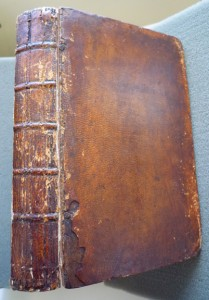 """Well-worn spine and upper cover of """"The New Pantheon""""... But was it well-read too?"""