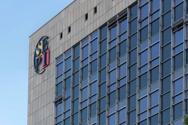 El logo de la Sociedad Estatal de Participaciones Industriales (SEPI), en su sede en Madrid. FOTO: SEPI