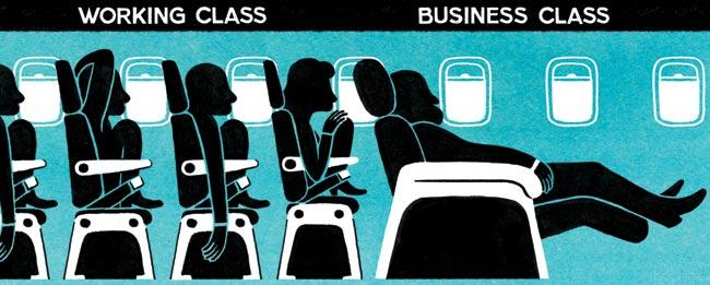 working class vs. business class