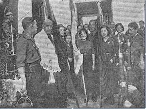 Inaguración de la Casa del Pueblo por falangistas