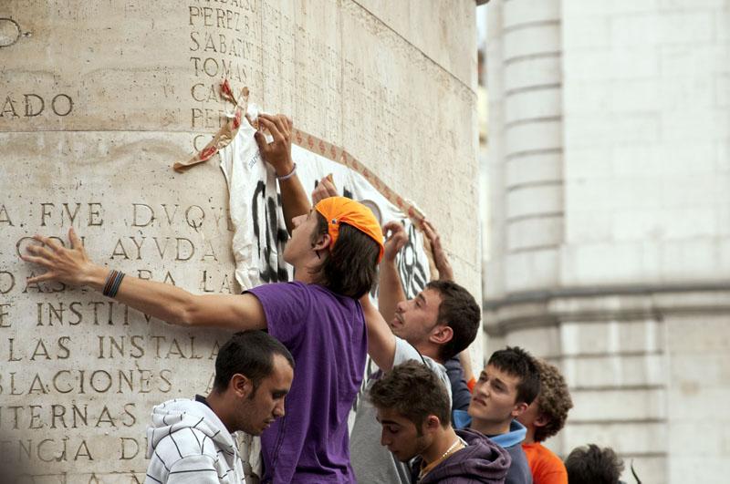 de protesta que se celebra en la Puerta del Sol DIEGO SANTOS GARCIA