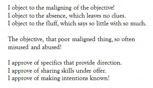 I Object A Poem About Objectives – CESblogs