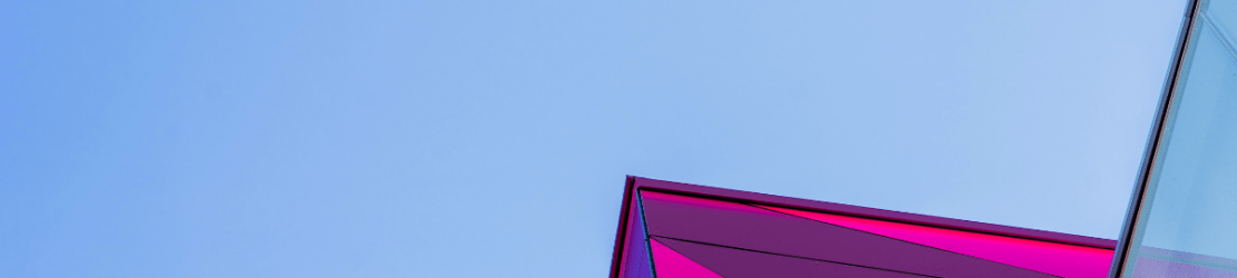 Pink building against a blue sky
