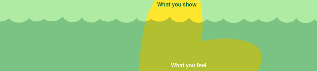What you show, vs what you feel iceberg under water style.