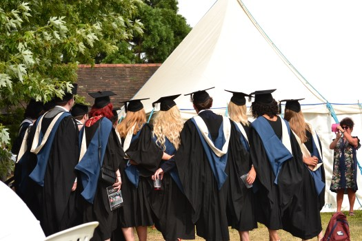 graduates in a row