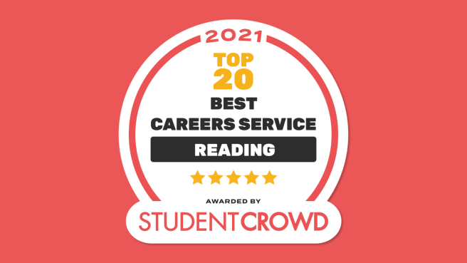 2021 top 20 best careers service, Reading. StudentCrowd. 5 star