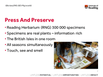 Herbarium resources are often underutilised