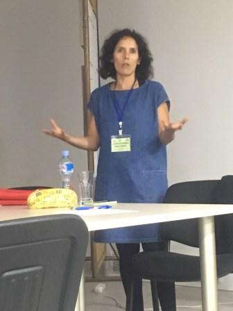 ECCF co-chair, Susana presenting her vision for ECCF future directions.
