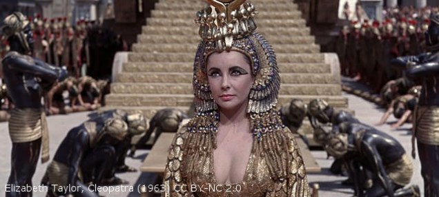 Elizabeth Taylor, Cleopatra (1963) - not burning Cardamon at this precise time (but looks as if she is thinking about it).