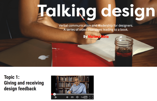 Gerry Leonidas interview on Talking Design