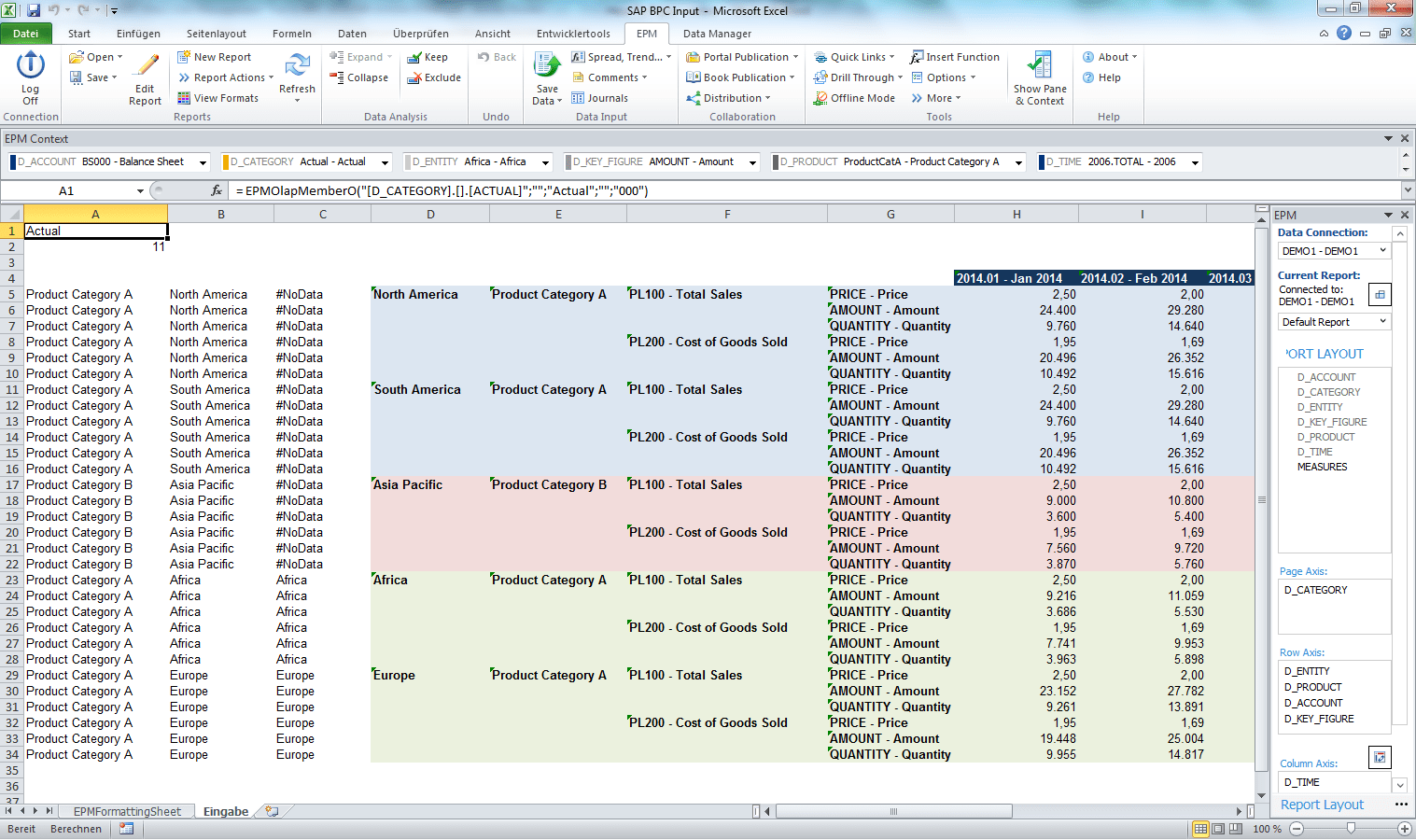 How To Create Excel Input Forms With Nested Dimensions