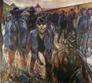Οι εργάτες στο δρόμο για το σπίτι από τον Μουνκ