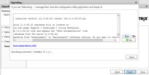 NetScaler upgrade warning
