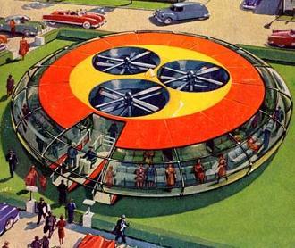 Fying saucer bus.