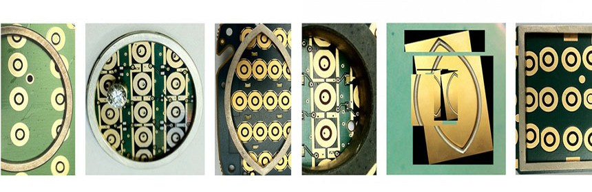 An composite image of circuitry