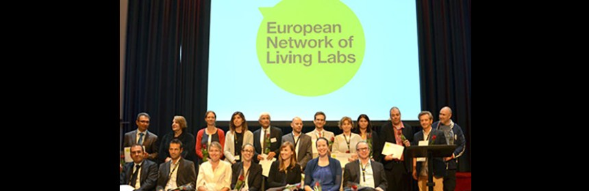 Photograph of ENOLL 8th wave members Lab4Living Awarded membership of ENOLL