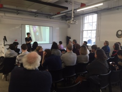 Image of Caroline Claisse's lunchtime research seminar. Photo by Professor Paul Chamberlain.